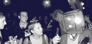 Street MK Hombre proyector en la Mercé '09